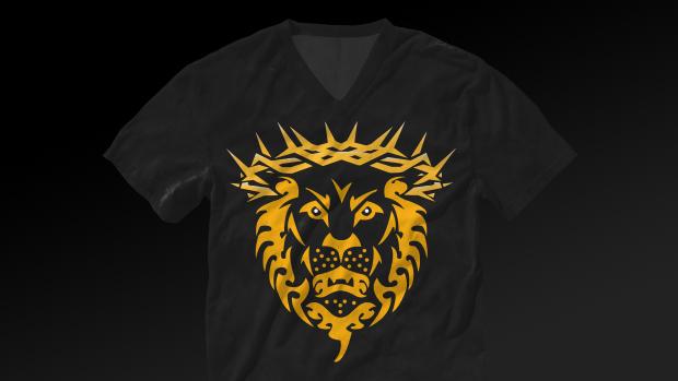 unashamed athletes // lion t-shirt – shadow design